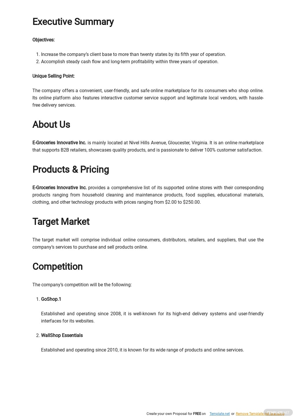 Online Marketplace Business Plan Template 1.jpe