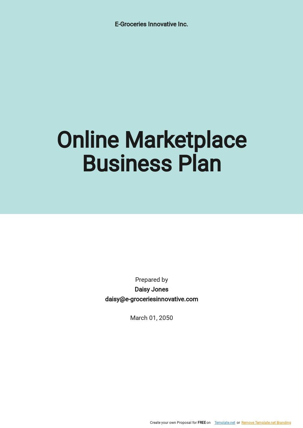 Online Marketplace Business Plan Template.jpe