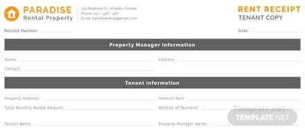 Free Tenant Rent Receipt Template