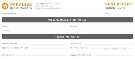Free Tenant Rent Receipt Template