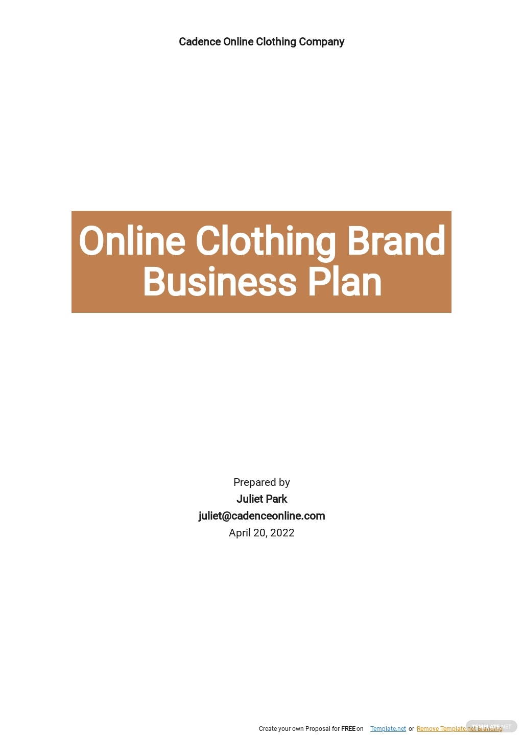 Online Clothing Brand Business Plan Template.jpe