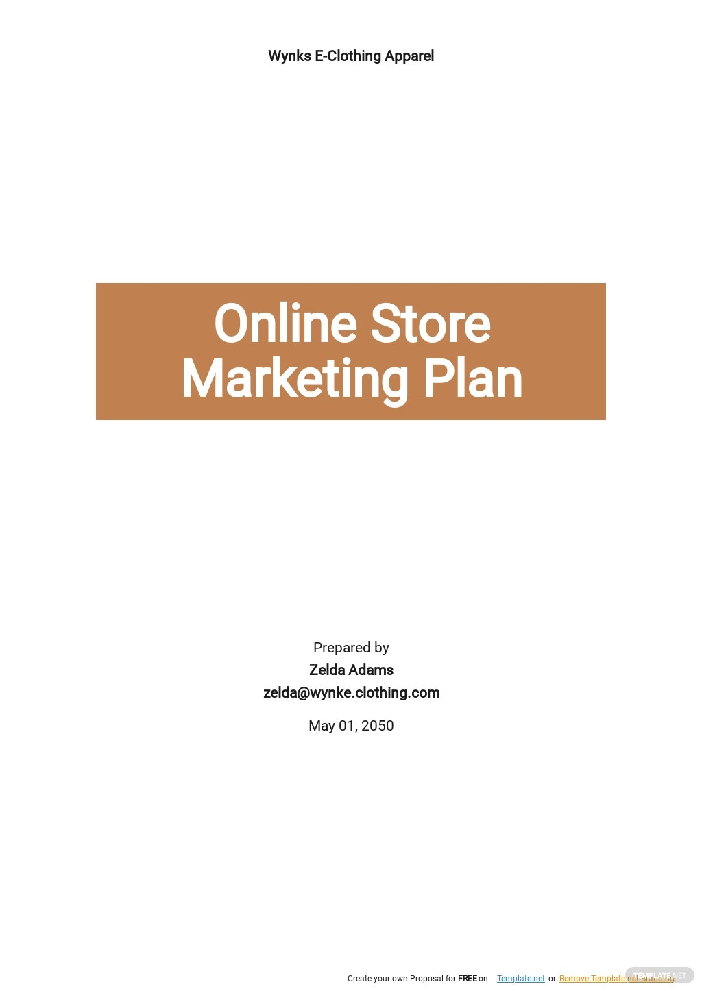 Online Store Marketing Plan Template.jpe