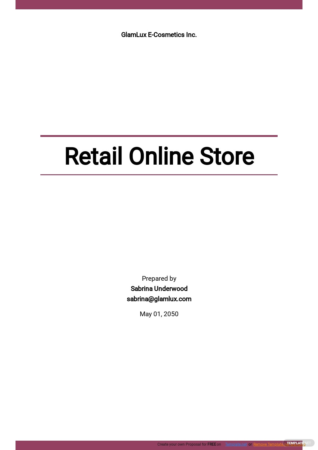 Retail Online Store Business Plan Template.jpe