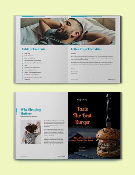 Blank Health Magazine Template Format