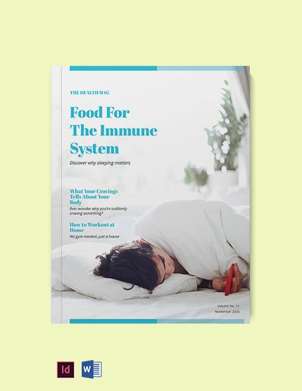Blank Health Magazine Template
