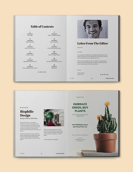 Minimalist Design Magazine Template Format