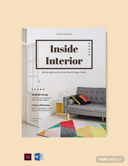 Minimalist Design Magazine Template