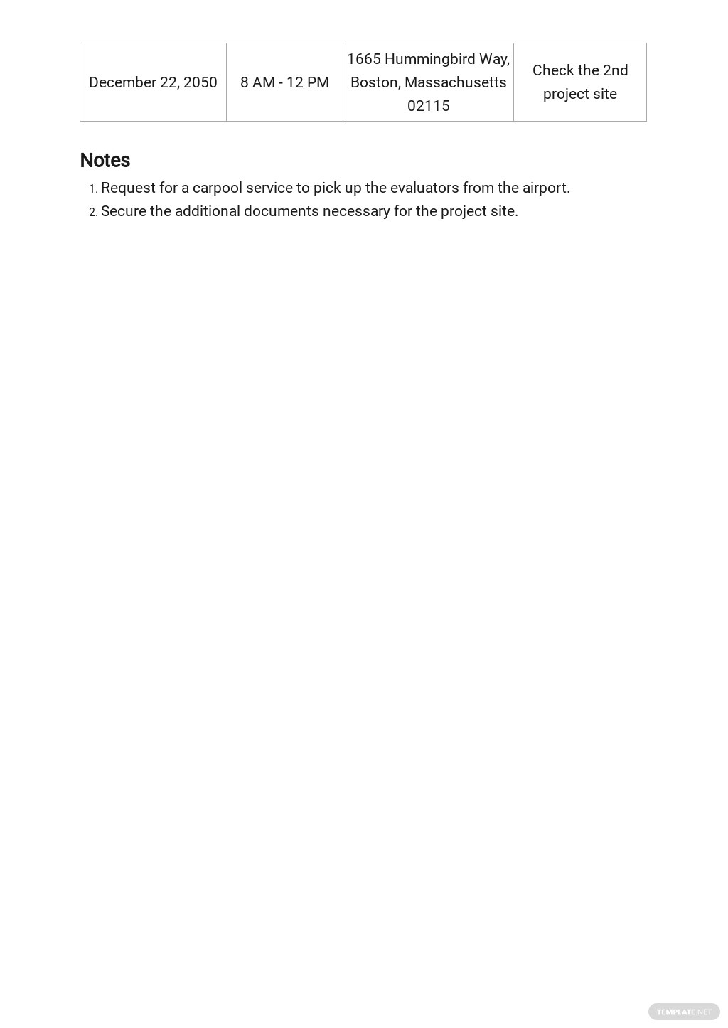 Professional Business Travel Itinerary Template [Free PDF] - Google Docs, Word