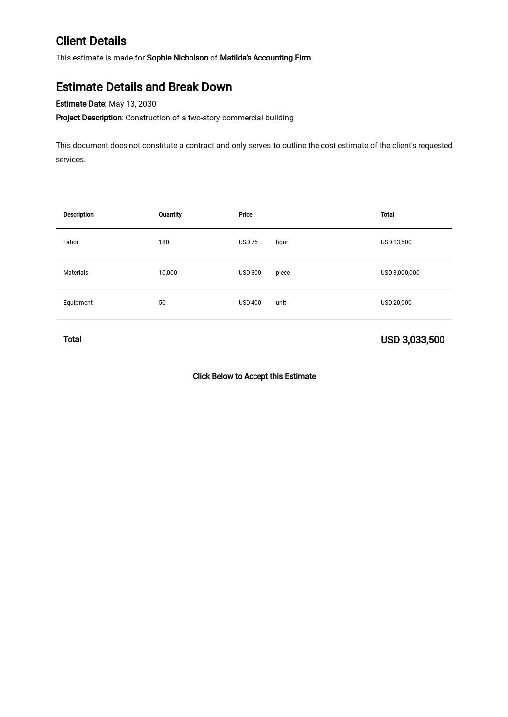 Free Blank Contractor Estimate Sheet Template 1.jpe