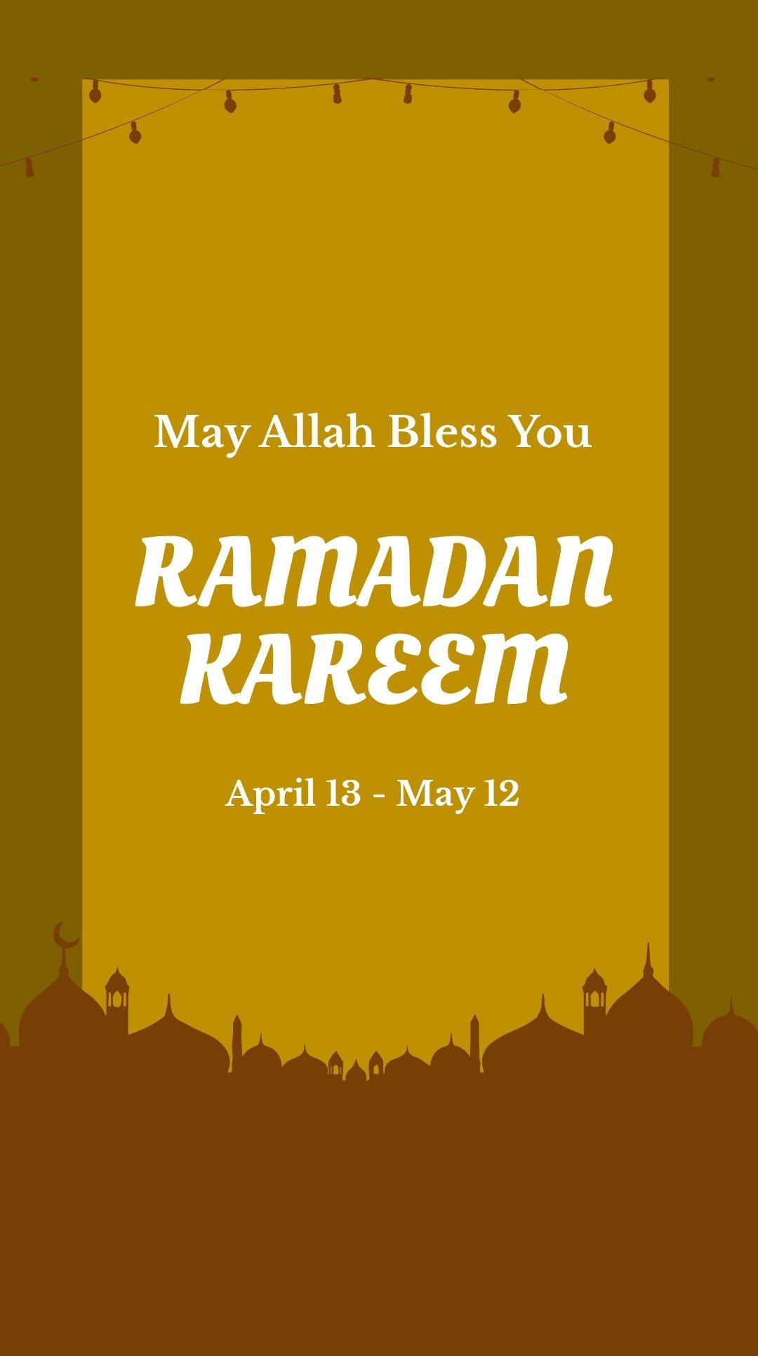 Ramadan Kareem Whatsapp Post Template.jpe