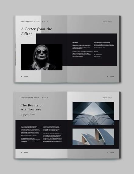 Sample Minimalist Architecture Magazine Template