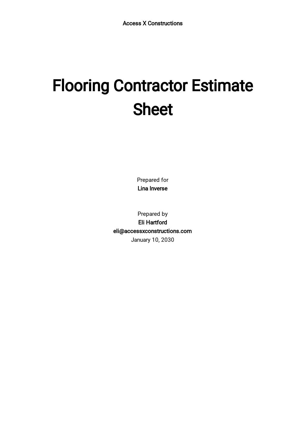 Free Flooring Contractor Estimate Sheet Template.jpe