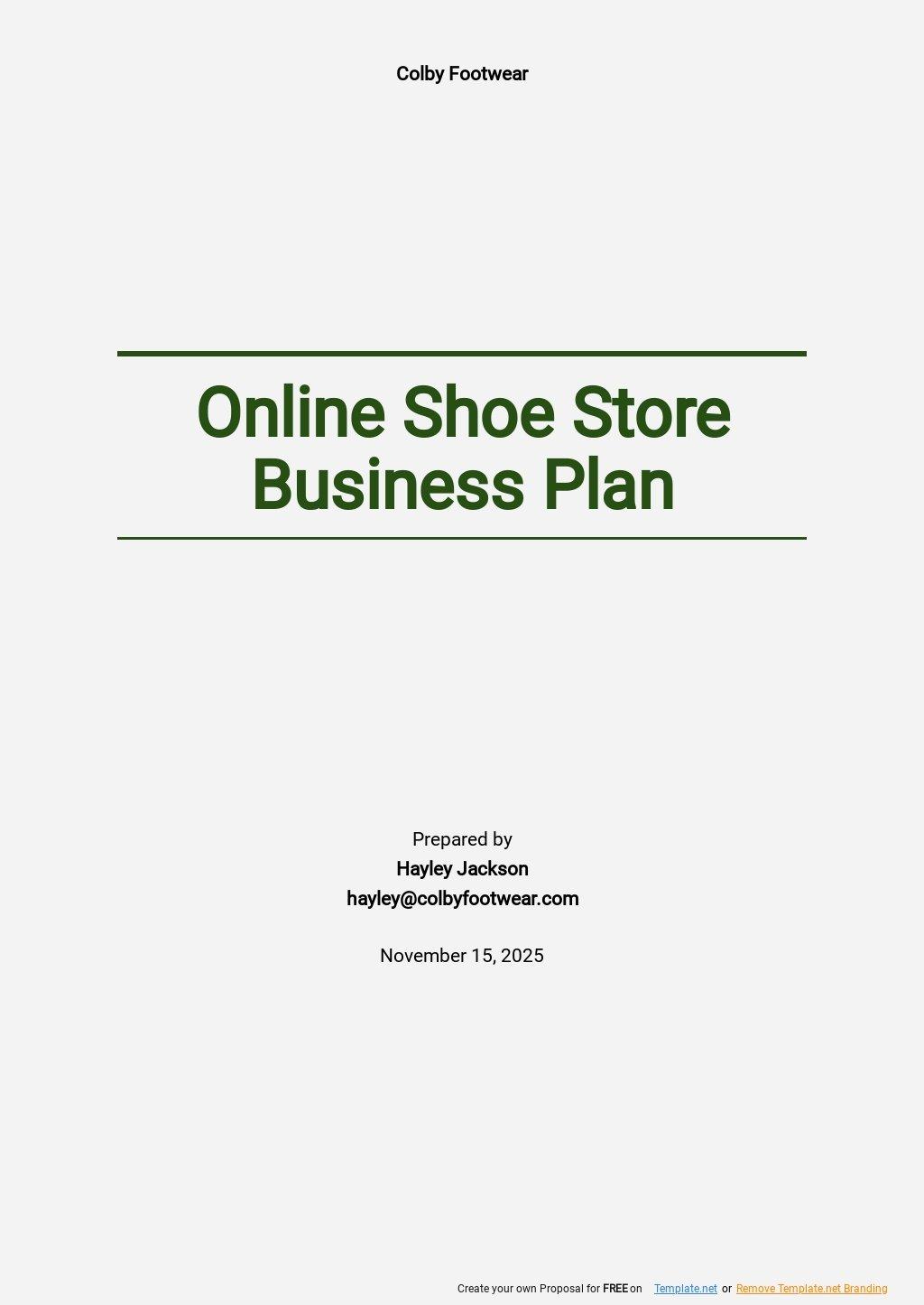 Online Shoe Store Business Plan Template.jpe