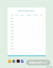 Free Hourly Planner Schedule Template