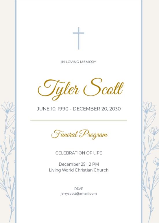 Christian Funeral Program Invitation Template.jpe