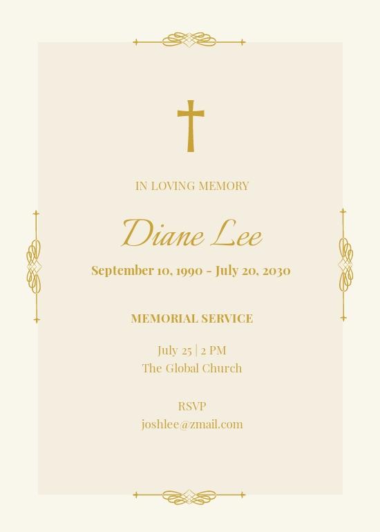 Free Elegant Funeral Memorial Invitation Template.jpe