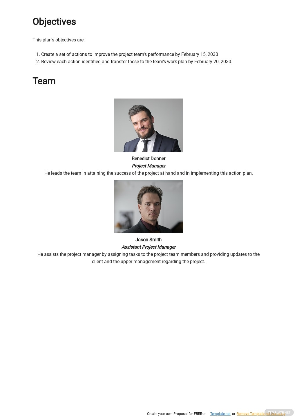 Free Project Team Action Plan Template 1.jpe