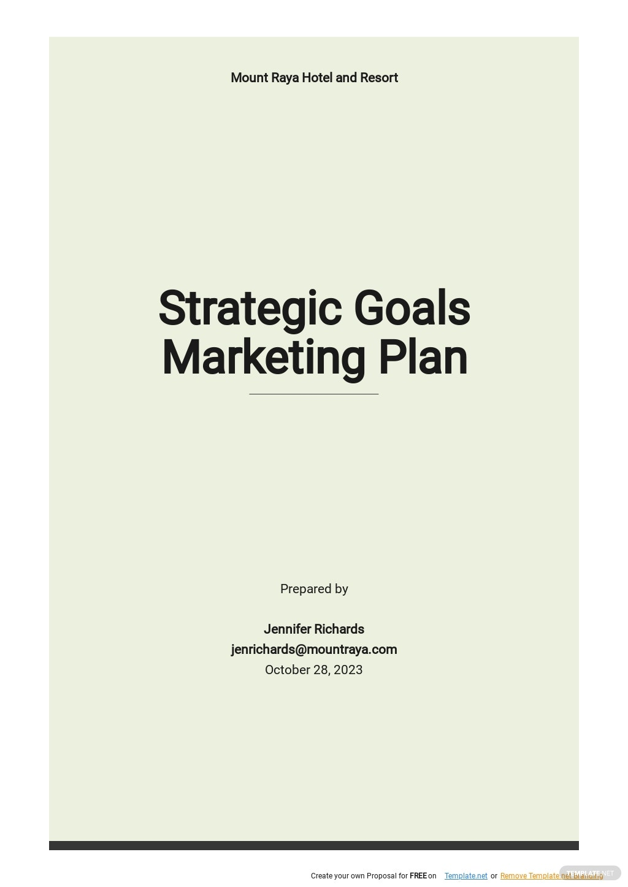 Free Strategic Goals Marketing Plan Template.jpe
