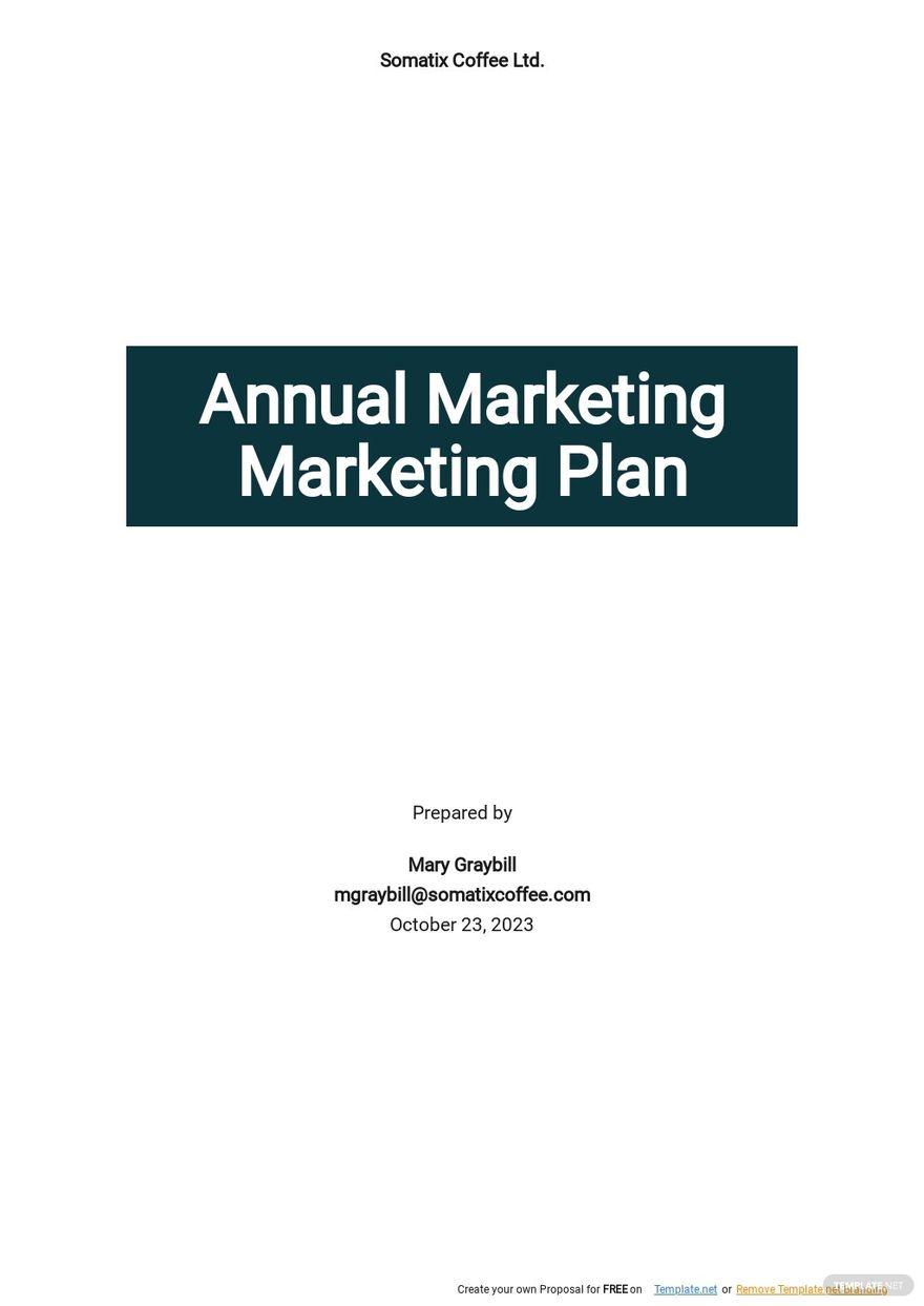 Simple Annual Marketing Plan Template.jpe