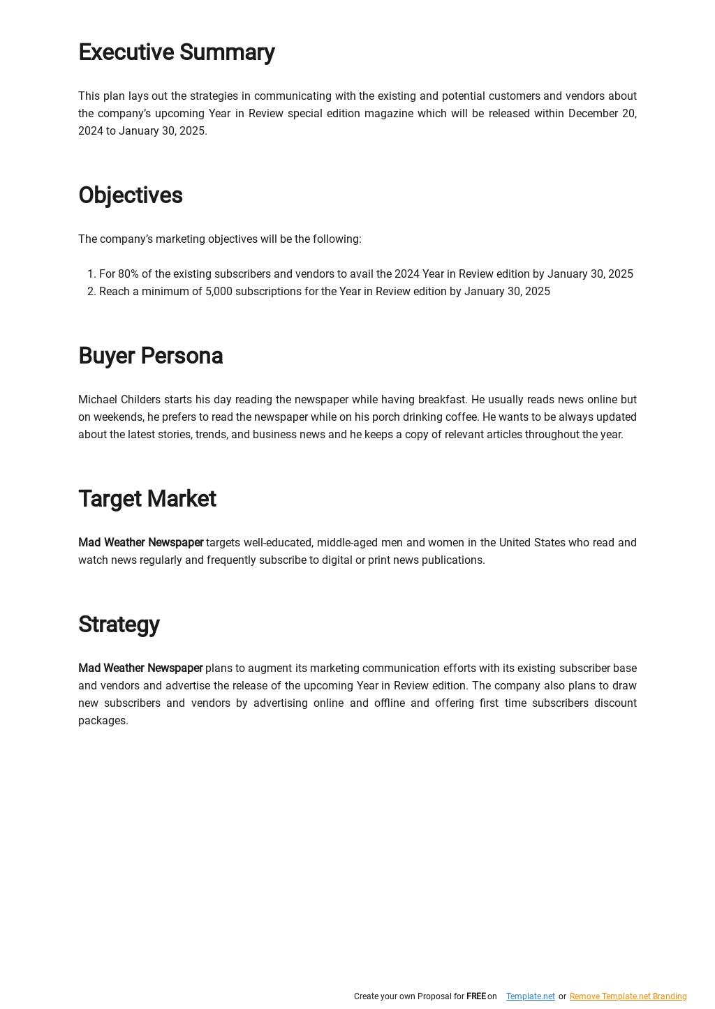 Simple Marketing Communications Plan Template 1.jpe