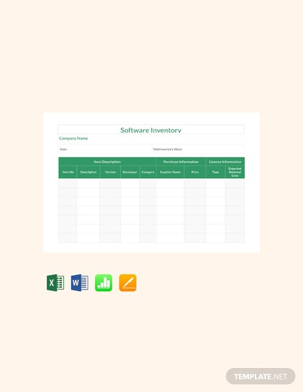 55 free numbers inventory templates download ready made