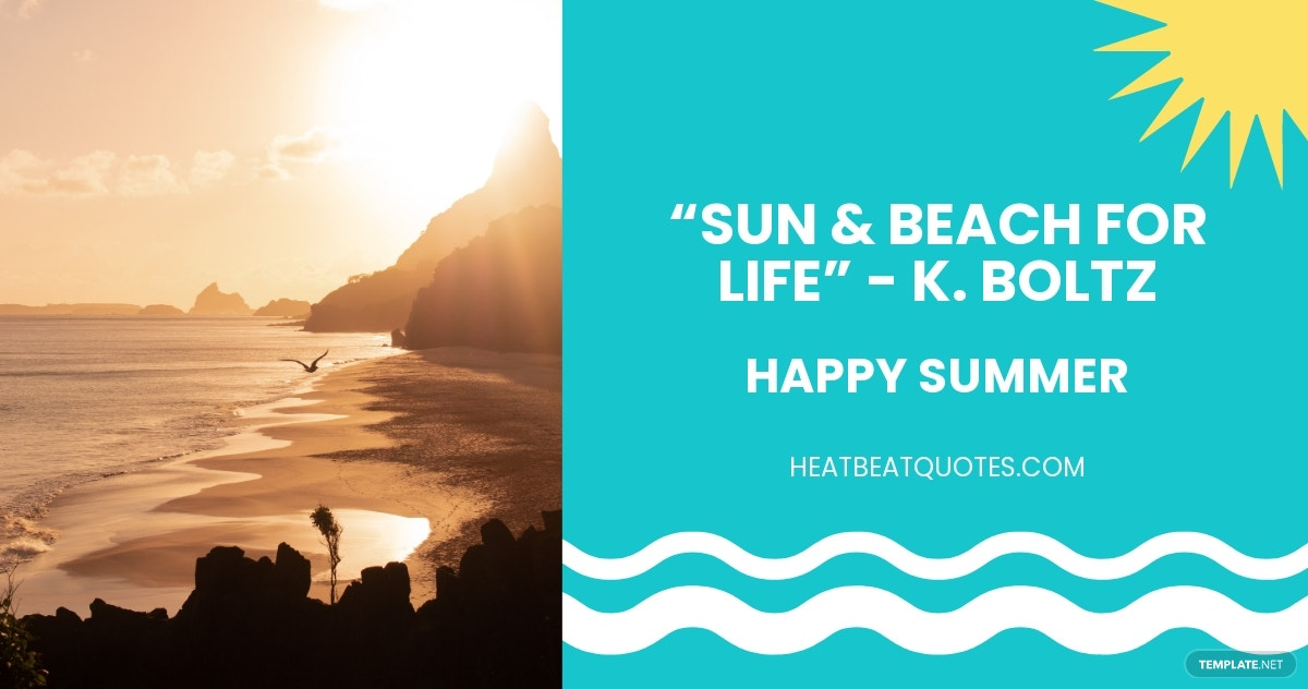 Summer Quote Facebook Post Template.jpe