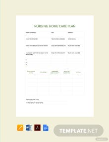 Free Nursing Home Care Plan Template