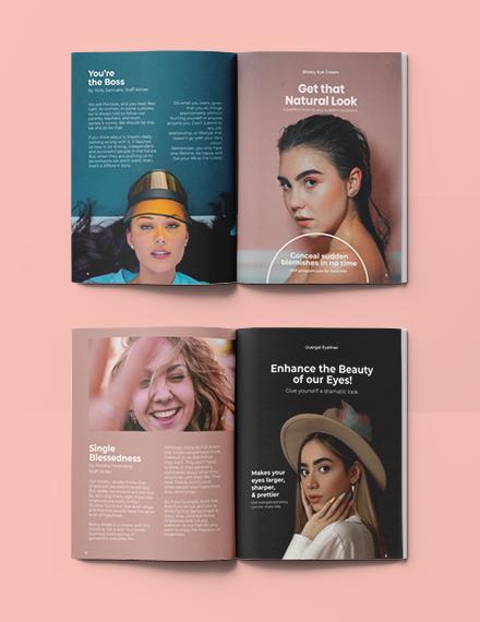 Sample Minimalist Lifestyle Magazine
