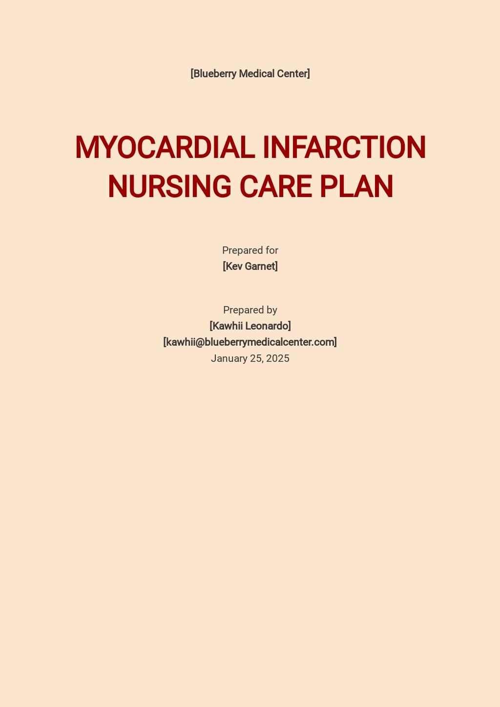 Printable Nursing care plan Template