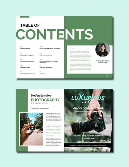 Minimalist Photography Magazine Template