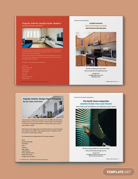 Minimalist Interior Design Magazine Format
