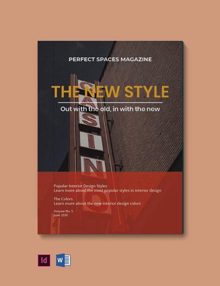 Minimalist Interior Design Magazine Template