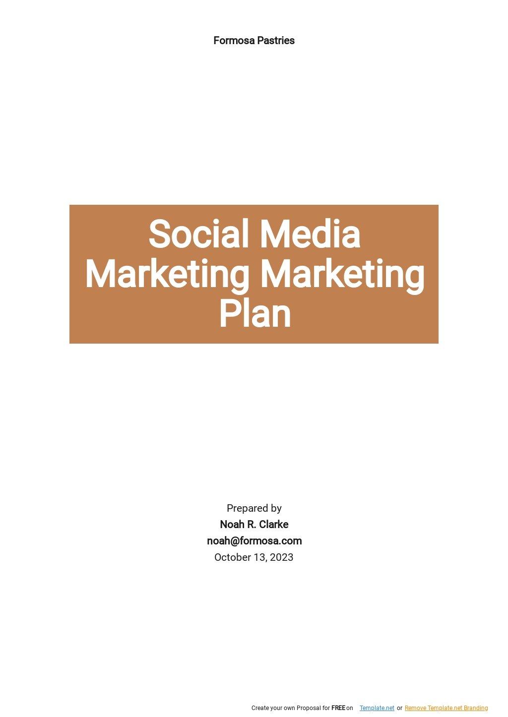 Simple Social Media Marketing Plan Template.jpe
