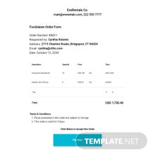 Free Fundraiser Order Form Template