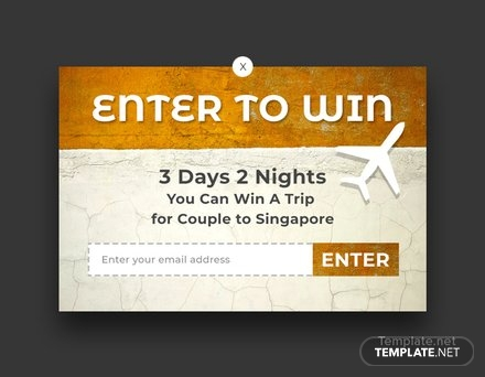 Free Website Contest Pop-up Template