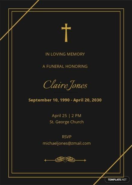 Simple Digital Funeral Invitation Template.jpe