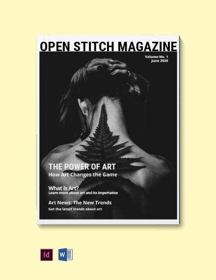 Black and White Minimalist Magazine Template