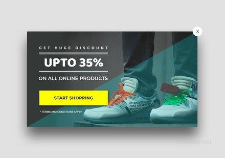 Free Website Discount Pop-up Template