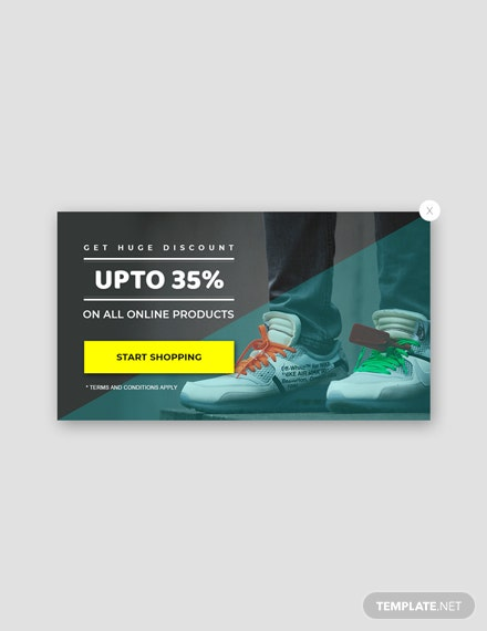 Free Website Discount Pop-up Template
