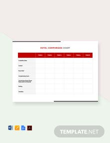 Free Hotel Comparison Chart Template