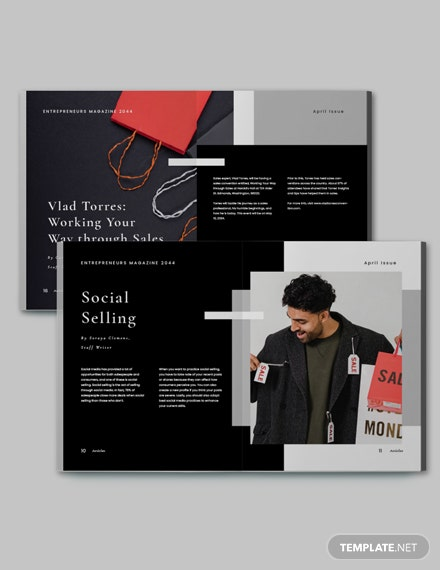 Free Professional Sales Magazine Template Design