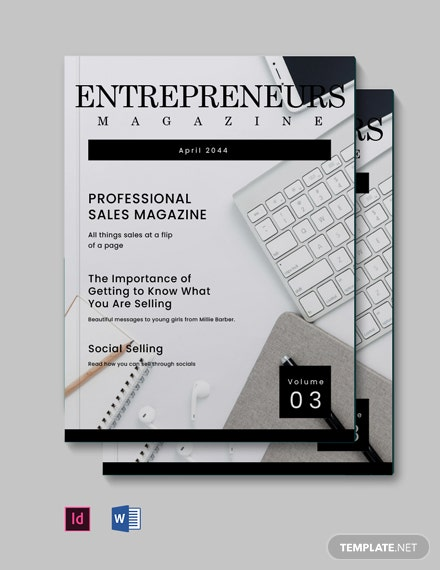 Free Professional Sales Magazine Template