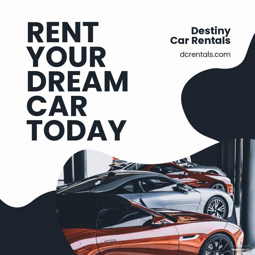 Luxury Car Rental Instagram Post Template.jpe