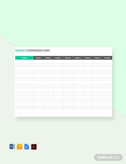 Free Simple Product Comparison Chart Template