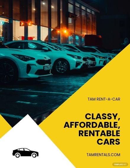 Car Rental Advertisement Flyer Template.jpe