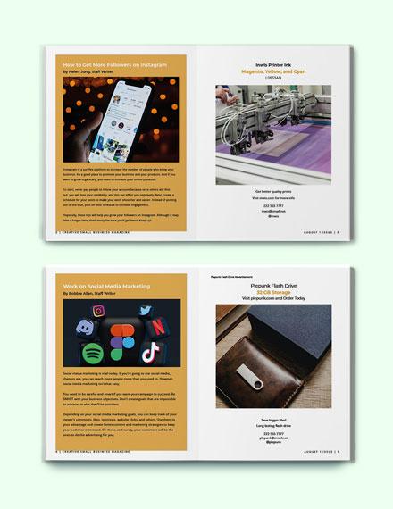 Creative Small Business Magazine Format