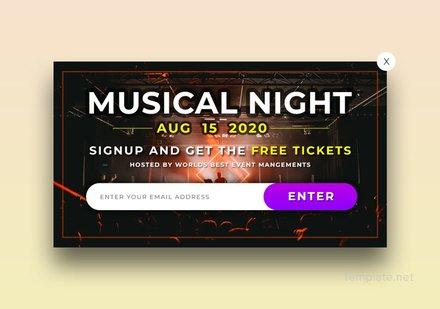 Free Website Event Pop-up Template