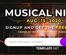 Free Website Event Pop-up Template