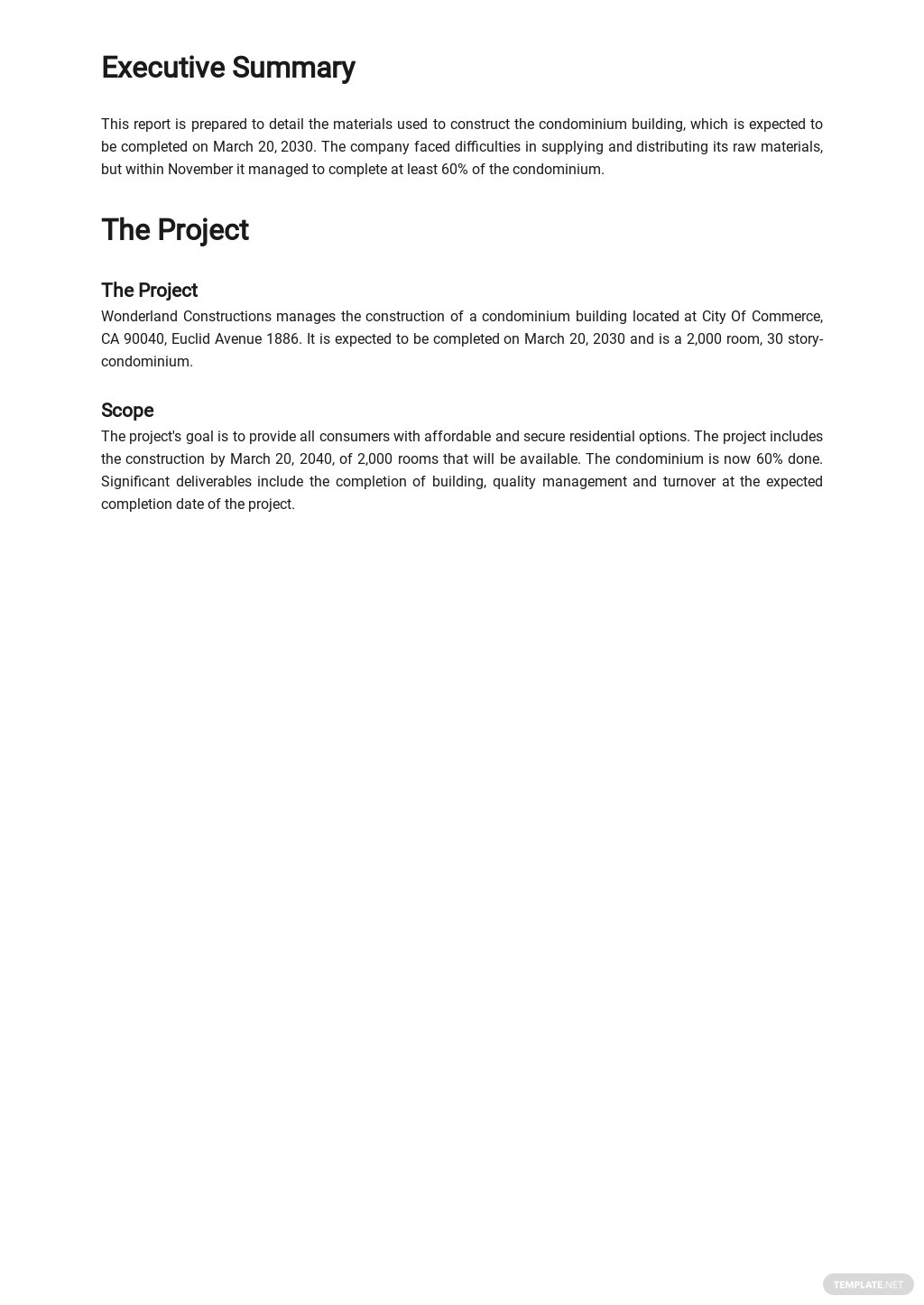 Free Daily Material Control Report Template 1.jpe