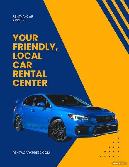 Car Rental Service Flyer Template.jpe